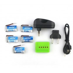 JJRC H31 RC Drone Charger and 5 Battery Set X5A-A13