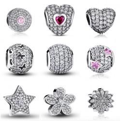 925 Sterling Silver Charm Beads Bracelet Pendant