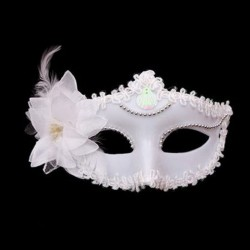 Flower Feather Venetian Masquerade Halloween Carnival Eye Mask