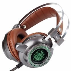 Stereo V2 Earphone Headset LED Light Hi-Fi Headphones MP3 With Microphone