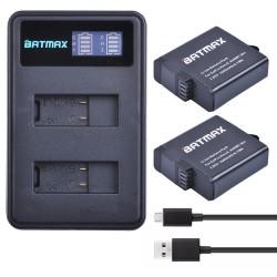 GoPro Hero 5 6 1600mAh Battery LCD Dual USB Charger 2pcs