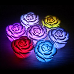 LED Light Rose Flower Color Change Lamp