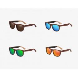 Wooden Design Polarized Mirror Lens Sunglasses Unisex