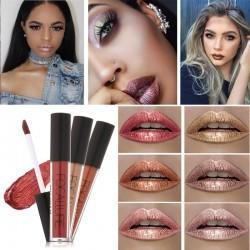 Long Lasting Lipstick Nude Gold Metallic Lipgloss