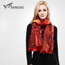 VIANOSI Printed Design Thick Scarf