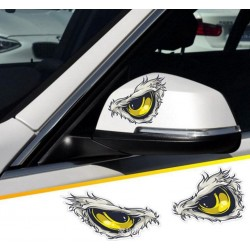 3D Reflective Cat Eyes Vinyl Car Sticker 10 * 8cm 2pcs