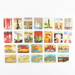 New York & Statue of Liberty Fridge Magnets 24pcs Set