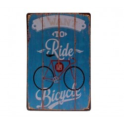 I Want To Ride My Bicycle Metal Sign Poster