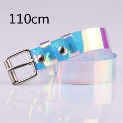 Przezroczysty - laserowa tęcza - modny pasek - 90 cm - 100 cm - 110 cm - 120 cm