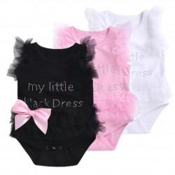 Elegante body da neonato con rete per bambina