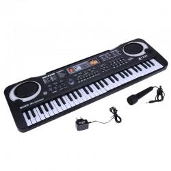 61 klawiszy - cyfrowa klawiatura elektroniczna - pianino elektryczne dla dzieci - wtyczka UE