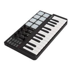 Mini portable 25-key USB keyboard & Drum Pad MIDI controller