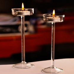 elegant romantic goblet glass candle holder - candlestick - valentine's day - wedding dinner - home decoration
