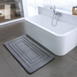 memory foam bath mats - bathroom carpet - non-slip toilet bathroom rug - toilet mat -doormat