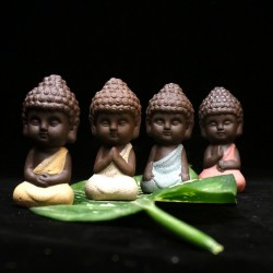 small buddha - statue monk figurine - tathagata india yoga mandala ceramic crafts