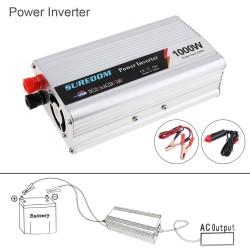 1000 W - DC 12V 24V - 220V AC - 110V - USB - falownik samochodowy - ładowarka adaptera - przetwornica napięcia