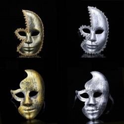 Antyczne srebro & złoto - maska wenecka - pół twarzy