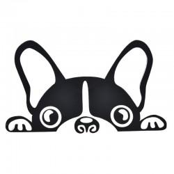 Wodoodporna - winylowa naklejka samochodowa z twarzą psa