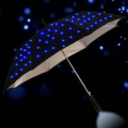 Długi parasol przeciwdeszczowy - z migającymi gwiazdami LED