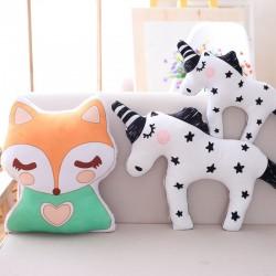 Unicorn and fox shaped stuffed toy - soft pillow