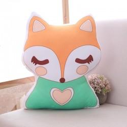 Pluszowa zabawka w kształcie jednorożca i lisa - miękka poduszka