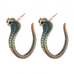 India Boho Ethnic Cobra Dangle Drop Earrings For Women Female New Trendy Party Earrings Hanging Jewe
