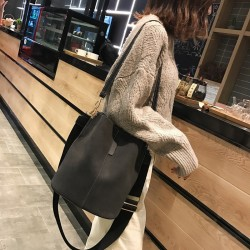 Vintage - torba na ramię - crossbody - skórzana torebka o dużej pojemności