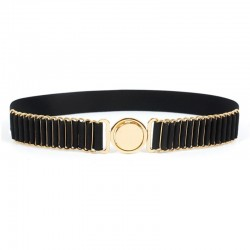 New Brand Belts For Women Fashion Beauty Round Metal Buckle Belt Vintage Lady Elastic Designer Waist