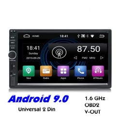 Autoradio 2 Din Bluetooth Android 9 - WiFi - USB - Navigation GPS - Mirrorlink - MP3 MP5