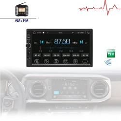 2 Din Bluetooth Android 9 radio para automóvil - WiFi - USB - Navegación GPS - Mirrorlink - MP3 MP5