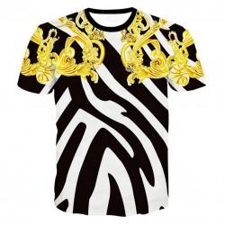 Luksusowa koszulka z nadrukiem graficznym 3D - bawełna premium