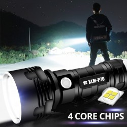 Super Powerful LED Flashlight L2 XHP50 Tactical Torch USB Rechargeable Linterna Waterproof Lamp Ultr