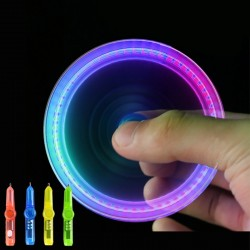 Interesting toy Fingertip Rotating spinner Gyro toy Pen Led Luminous Gyro Pen Office ADHD EDC Anti