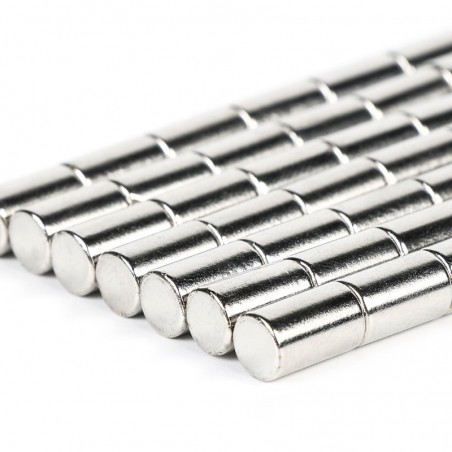 N52 Neodymium cylinder magnet 6mm * 10mm - 50 pieces
