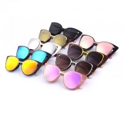 Okulary przeciwsłoneczne retro w kształcie kociego oka - UV400 - unisex