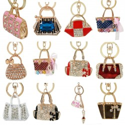 Crystal handbag - fashionable keychain
