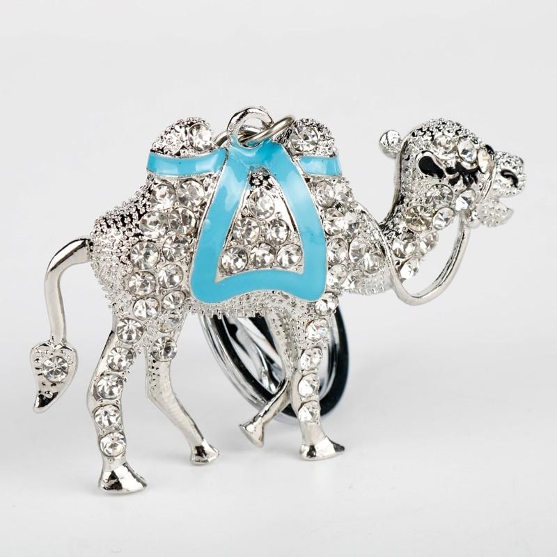 Crystal & gold camel - keychain