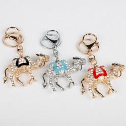 Kristallen - gouden kameel sleutelhanger