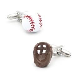 Piłka / rękawiczki baseballowe - spinki do mankietów