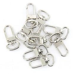 10 Pcs High Quality Swivel Carabiner Hook Silver Color Key Chains Sleutelhanger Key Ring 18mm x 33 m