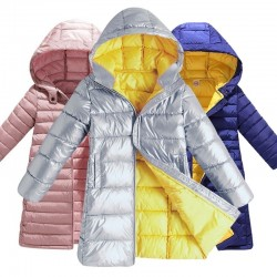 Kids long jacket - coat with hood - for girls and boys
