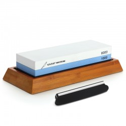 professional sharpening grinding stone - double side 1000/6000 grit knife sharpener - whetstone kitchen knife accessories