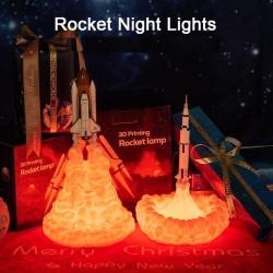 Transbordador espacial 3D - lámpara de noche en forma de cohete - 3 tipos - 21cm y 28cm