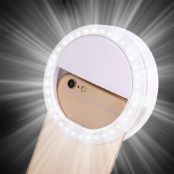 LED ring flash universal - selfie light portable mobile phone - 36 leds selfie lamp luminous ring clip