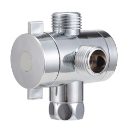 1/2'' 3-way t-adapter diverter valve adjustable shower head - arm mounted diverter valve bathroom hardware accessory