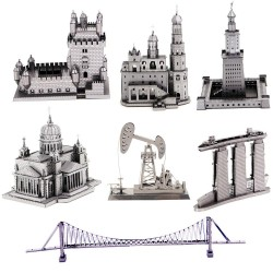 3D Metal Puzzle building model sets DIY Laser Cut Puzzles Jigsaw Model Educational Toys For Adult Ch