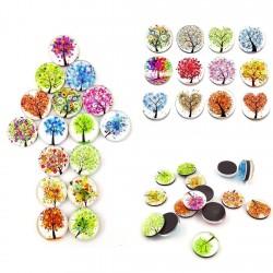 Piccoli alberi - magneti frigo rotondi 30mm 12 pezzi
