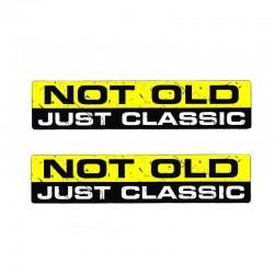NOT OLD JUST CLASSIC - auto aufkleber 15.2CM * 3.3CM