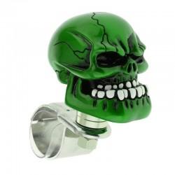 Zielona główka czaszki - kulka na kierownicę