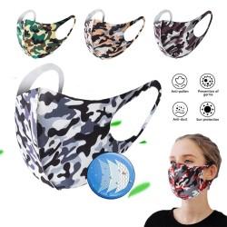 Mascarilla facial de moda - antipolvo - transpirable - lavable - máscara de esponja